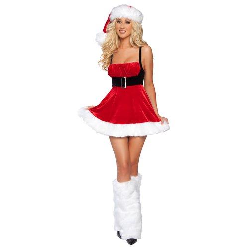 Naughty Santa Costume Christmas women Dress christmas girl dress 2733(China (Mainland))