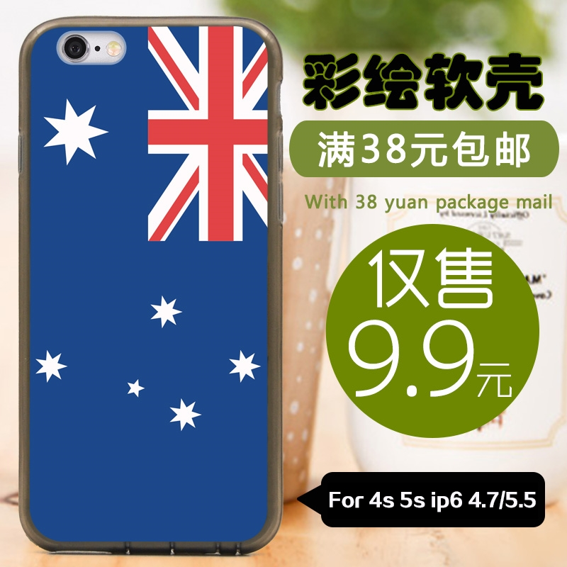 For Apple iphone 4s 5c 5s 6 plus 4.7'/5.5' tpu silicone case soft shell/Hard back cover cases phone Australia flag RAE12102198(China (Mainland))