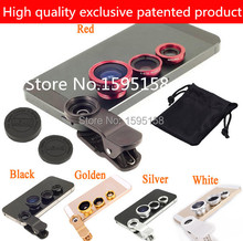 Universal Clip 3 in 1 Fish Eye Wide Angle Macro Fisheye Mobile Phone Lens For iPhone 6 5 5S 4 4S Samsung HTC Nokia phone lenses