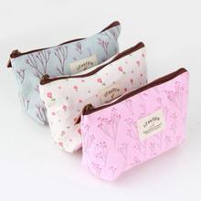 1Pc Vintage Flower Floral Pencil Pen Canvas bag Cosmetic Makeup Storage Pouch bag Case Purse Promotion Hot Selling(China (Mainland))