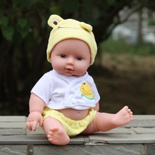 28cm baby doll fucoidin doll baby bath toy belt voice-activated water doll(China (Mainland))