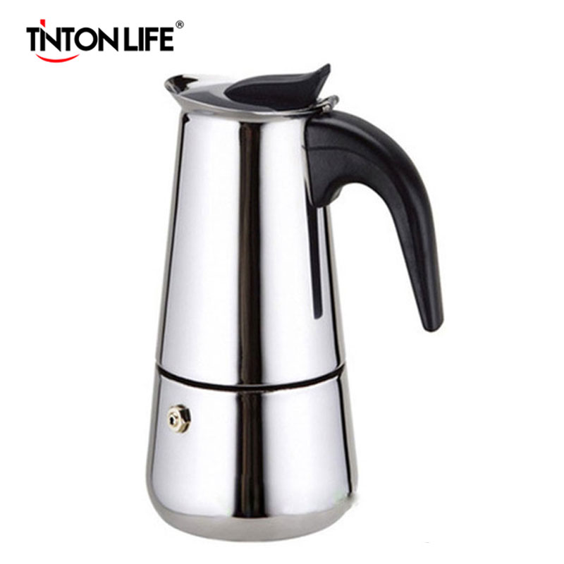 Top Quality Hot Sale 2/4/6/9 Cups Stainless Steel Moka Espre sso Latte Percolator Stove Top Coffee Maker Pot(China (Mainland))