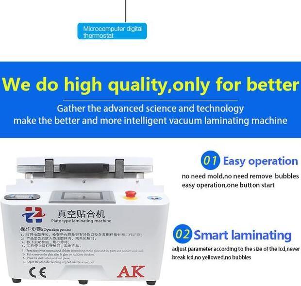 Купить Новые 2 в 1 Автоматический Вакуумный Ламинатор Пузырь для Удаления Машина Встроенный Насос и Воздушный Компрессор с автоматической блокировки