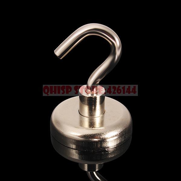 2015 New Top Fashion Iman Neodymium Magnet 3 Pcs/lot _ N35 36x46mm Hook Pot Strong Salvage Tool