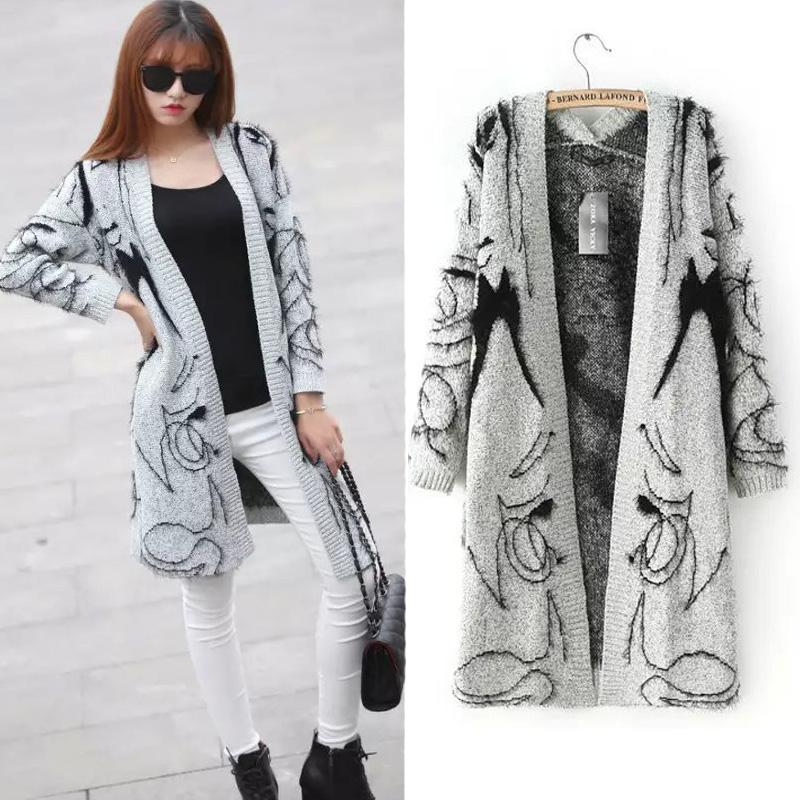 Длинный кардиган пальто