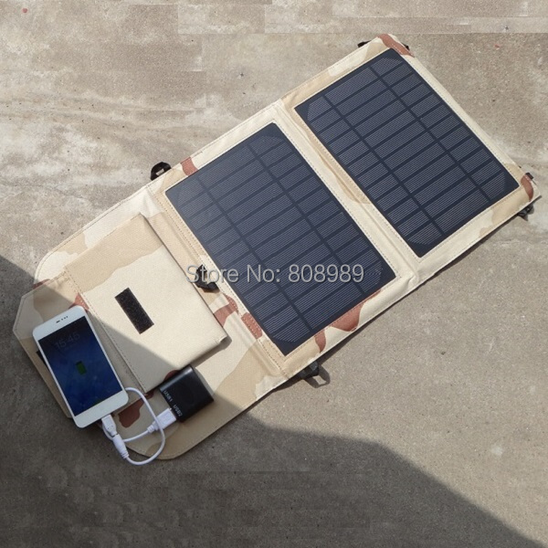 NEW Fodable10W Solar Charge Solar Panel Mobile Phone Charger For iphone /Power Bank Dual USB Output High Quality Free Shipping