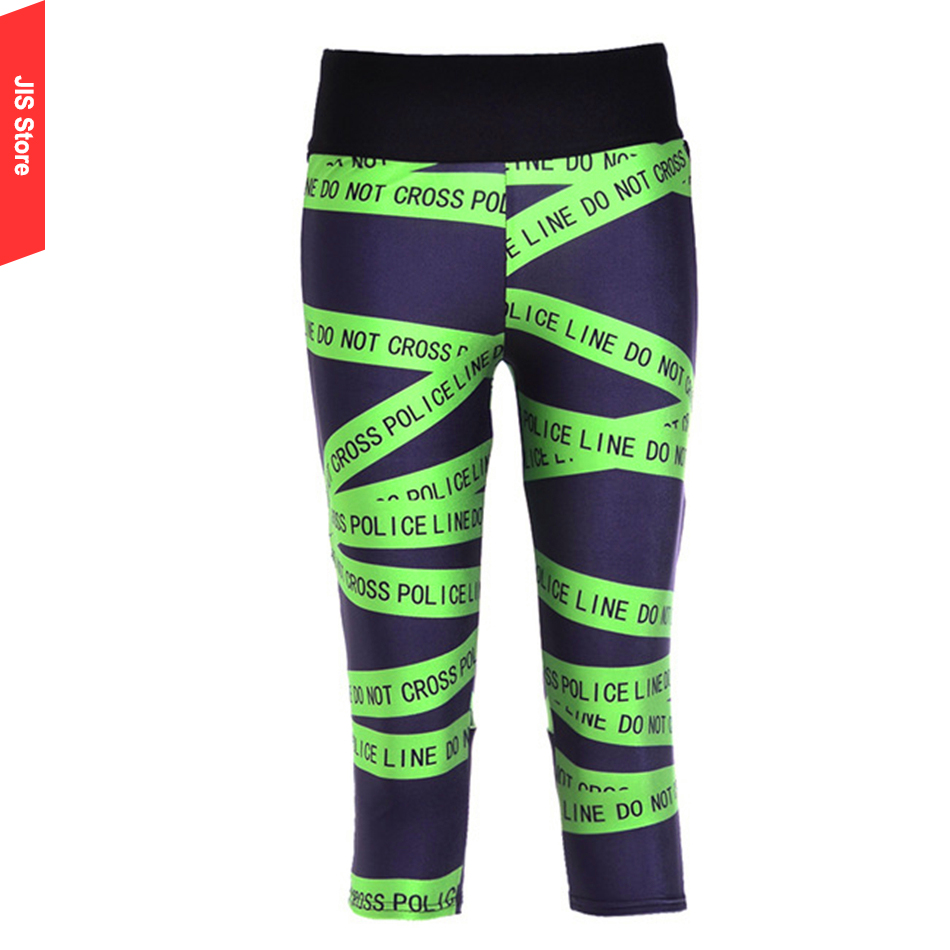 JIS New Yoga Clothes Fitness Wear Running Clothing Aerobics Clothing Suit Dance Training Service Cropped Trousers Pants(Hong Kong)