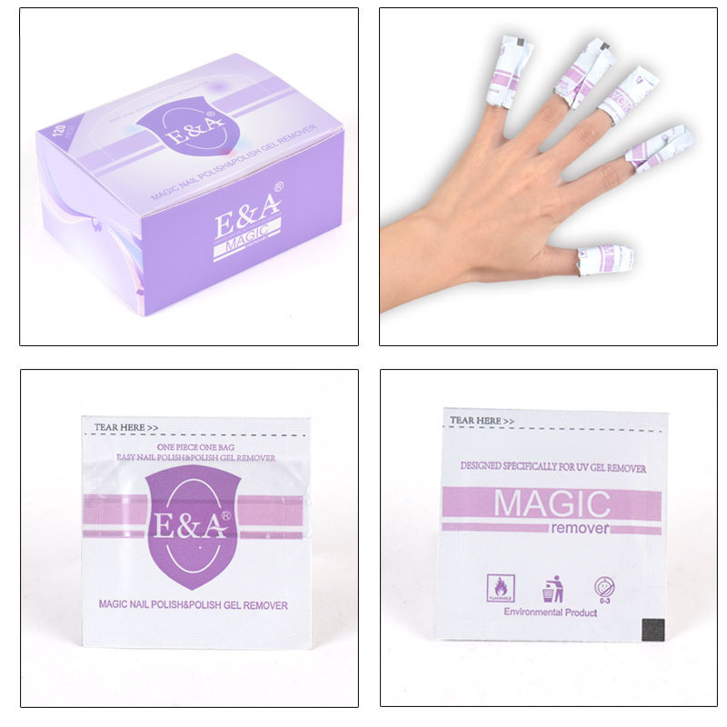 eco-friendly non-toxic nail gel remover wipes 120pcs remover gel nail easily the best cleaning tools(China (Mainland))