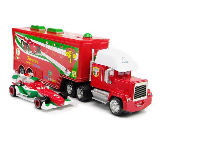 2pcs/set Pixar Cars Francesco MACK Superliner Truck New Diecast Car RED UNCLE MACK CARS 1:55 Lightning McQueen