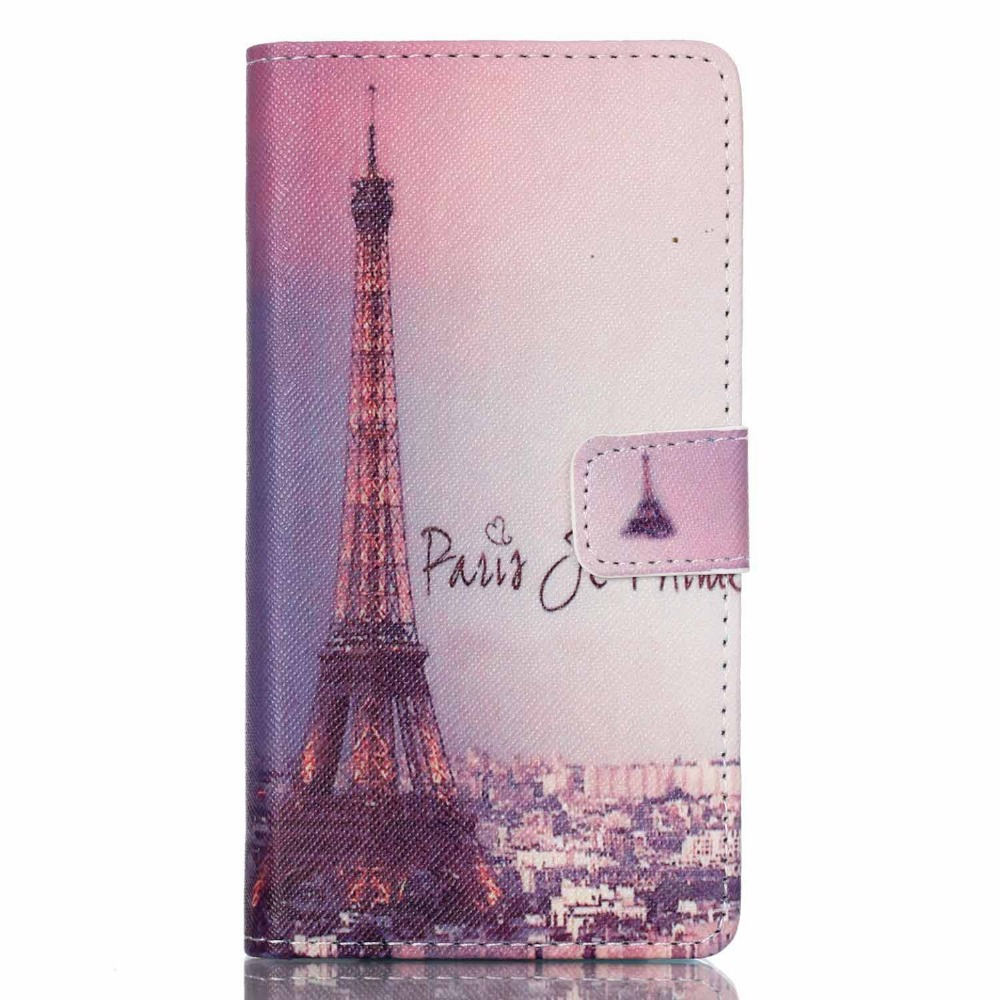 PanGee Folio PU Leather Case - T028 / Eiffel + Paris je t'aime - for Sony Xperia Z5 (5.2 inch) Wallet Cover(China (Mainland))