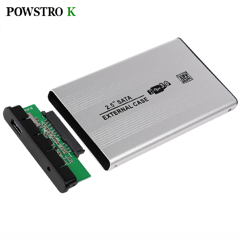 USB 3.0 SATA External HDD Case Silver Aluminum 2.5 Inch Hard Drive Disk Storage Enclosure Box with USB Cable(China (Mainland))