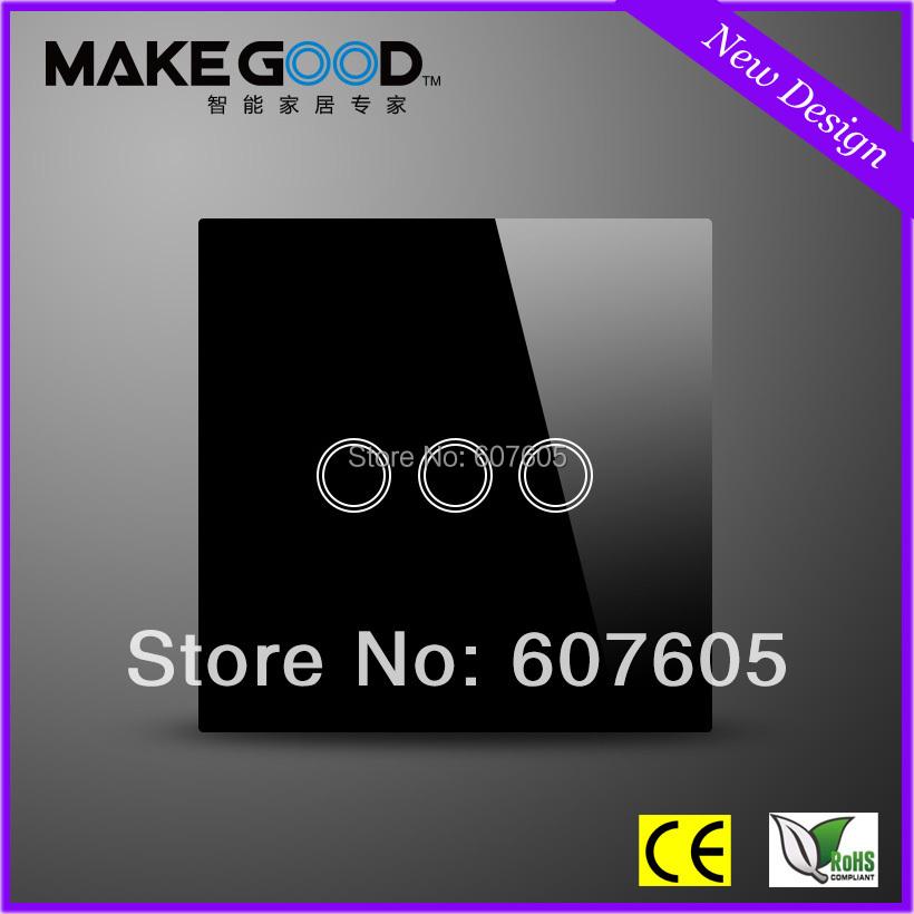 Настенный переключатель MakeGood 3 1 +  MG-UK03B настенный переключатель makegood 1 1 mg uk01b