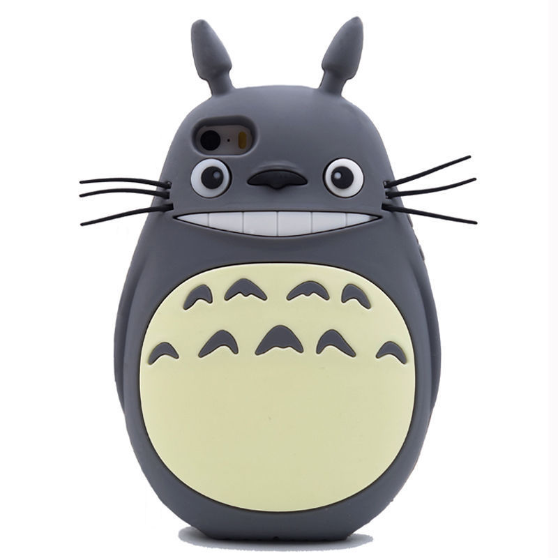 2016 3D Japan fashion cartoon forest animals fairy tale teddy bear cute genius totoro soft silicone cell phone case Iphone - Bird Tree store