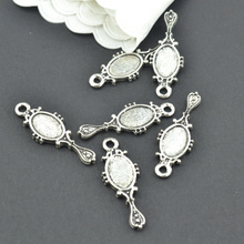 Buy 30Pcs Antique Silver Zinc Alloy mirror Charms Pendants Diy Jewelry Findings Accessories Wholesale 28*10mm 22107 for $1.59 in AliExpress store