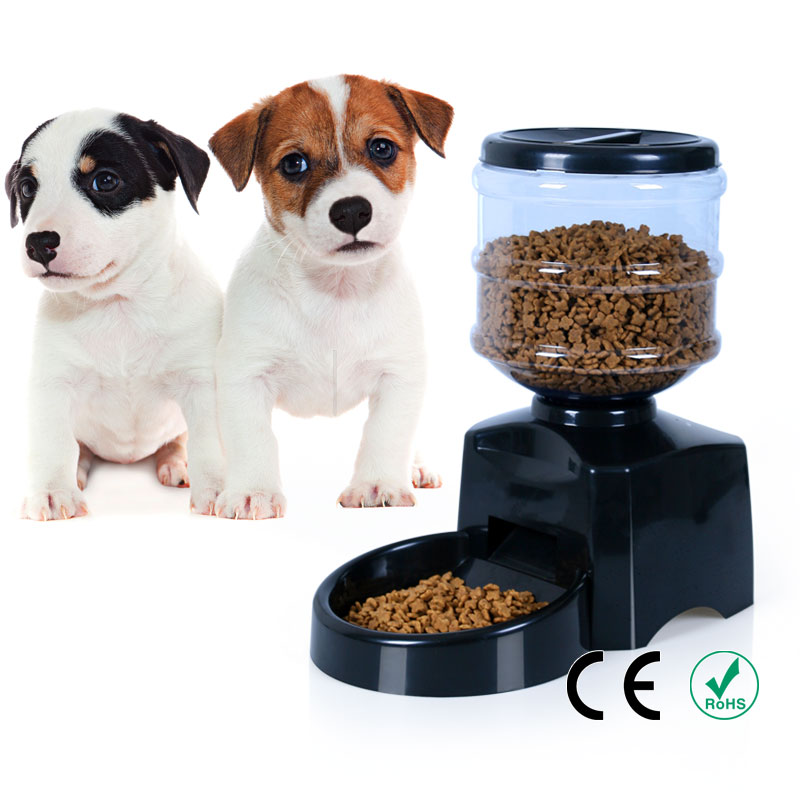 New Convinience Medium Capacity Automatic Pet Dog Voice Recordable LCD Screen Bottle Feeder(China (Mainland))