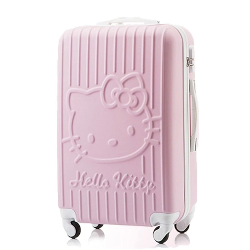 20Inch Travel Suitcase Spinner 4 wheel pink Hello Kitty ABS Luggage Bags Rolling Luggage Women and