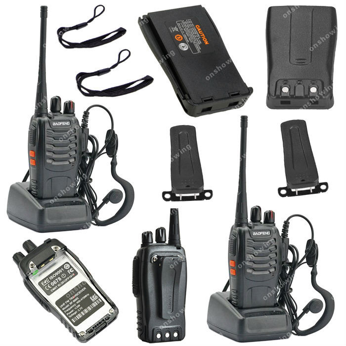 2x BAOFENG BF-888S UHF 400-470MHz 5W 16CH Ham Two Way Radio Walkie/Talkie OB0534(China (Mainland))