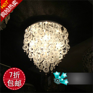 free shipping Natural earrings shell crystal fashion ceiling light(China (Mainland))