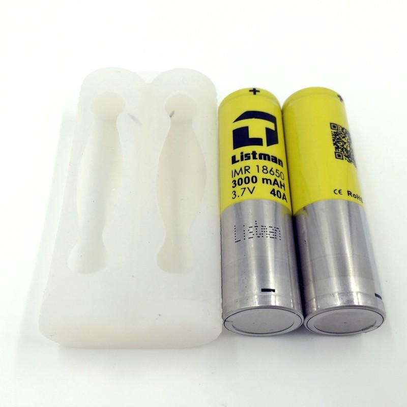 ถูก บุหรี่อิเล็กทรอนิกส์แบตเตอรี่Listman 18650 3000มิลลิแอมป์ชั่วโมง40aแบตเตอรี่Li-Mnที่ใช้กับvtwoมินิRX2/3 RX200sทรงลูกบาศก์150 istick pico