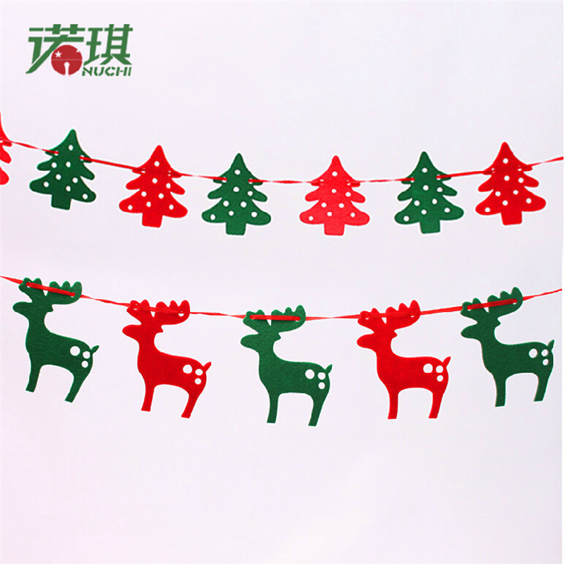 Christmas tree ornaments christmas deer window stickers - Portales de navidad decoracion ...