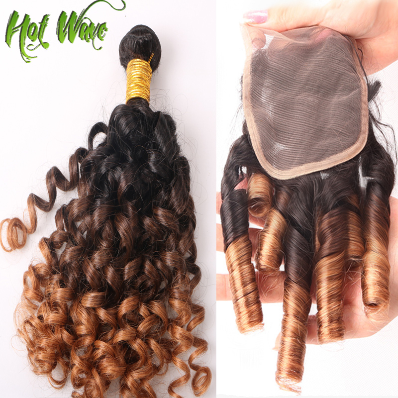 Гаджет  ombre Brazilian virgin hair lace based closure with 3 bundles spiral curly loose wave 6a unprocessed hair extensions CG117 None Волосы и аксессуары