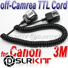 3M 3 meter E-TTL Off Camera FLASH sync Cord for Canon(China (Mainland))