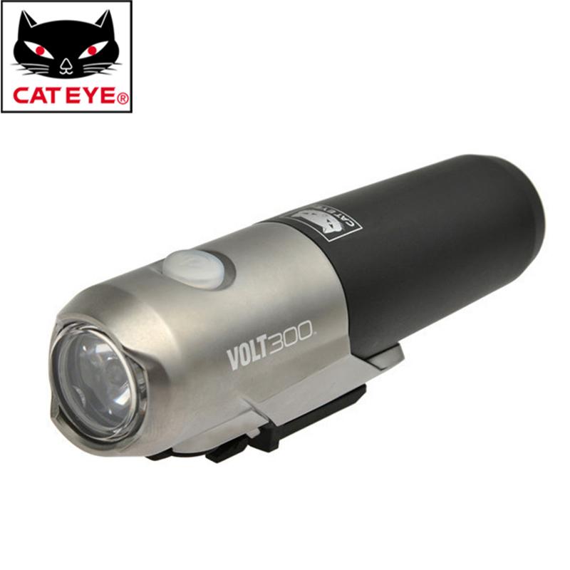 Фотография CATEYE Bike Bicycle Chargeable Waterproof Handlebar Front Light Headlight Head Lamp/Rear Light Led Taillight Flashlight USB