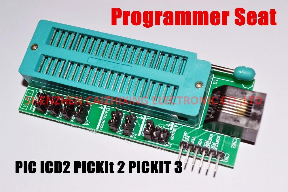 Free Shipping PIC ICD2 PICKit 2 PICKIT 3 Programming Adapter PICKIT2 PICKIT3 Universal Programmer Seat(China (Mainland))