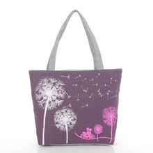 2016 hot sale women canvas bag cartoon printing shoulder bag big casual tote fashion handbag shopping bag single handle Y118