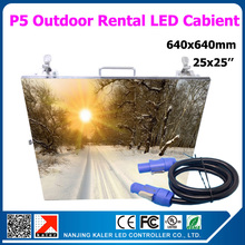 20pcs 25X25 inches P5 outdoor led video screen rental aluminum led display panel P5 cabinet with 1pcs free LINSN TS802D sender(China (Mainland))