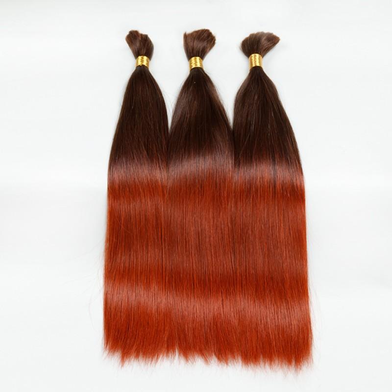 Sleek 10A Human Braiding Hair Bulk T6/130 Brazilian Virgin Hair Ombre Colorful Human Hair 3PCS Lot Aliexpress Free Shipping
