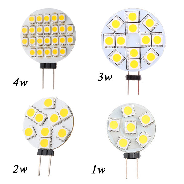 Big Promotion G4 LED Lamp 1W 3W 4W 5W 5050 SMD Spotlight Corn Bulb Car Boat RV Light Cool White Warm White DC12V(China (Mainland))