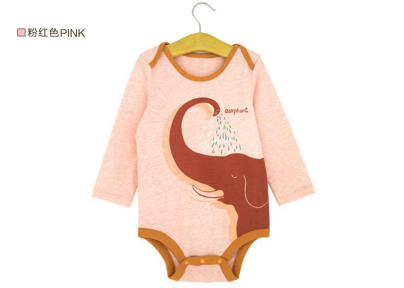 100% cotton long sleeved newborn baby boy girl Teddy printing jumpsuit Bodysuits yellowblue/pink - TOPFEEDIT LTD store