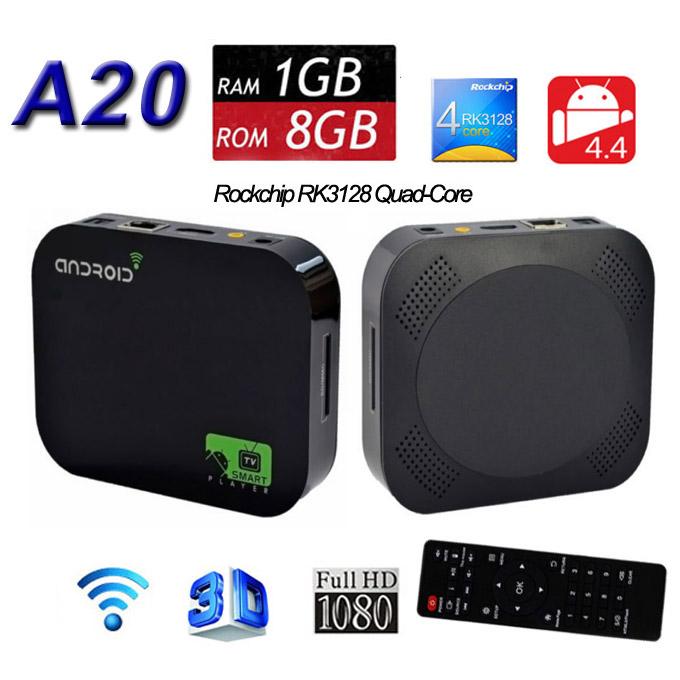 10PCS Android 4.4 TV Box Allwinner A20 Cortex A7 1GB 4GB Dual Core XBMC HDMI 1080P DLNA Miracast Wifi Youtube Smart Media Player