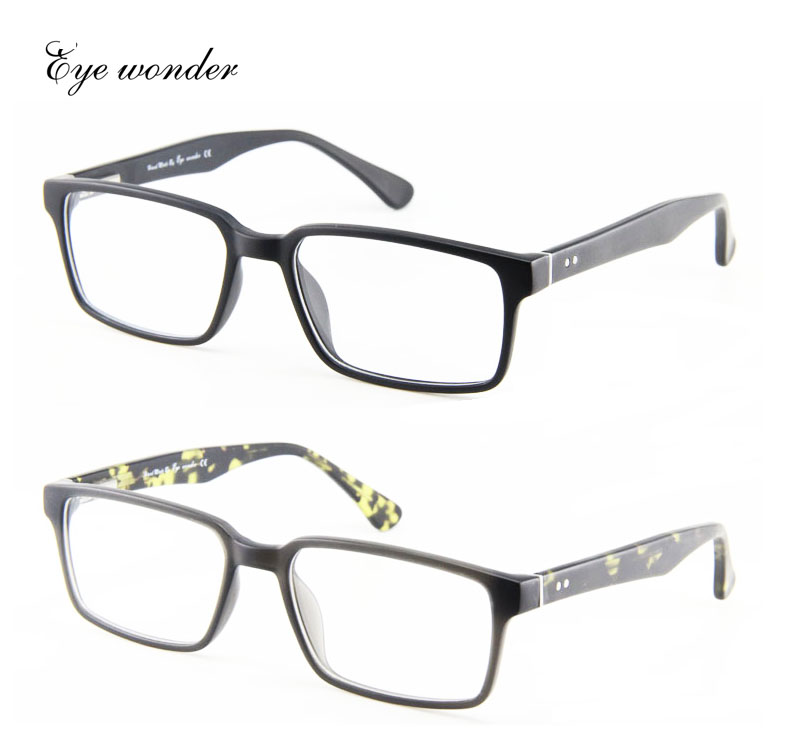 Eye Wonder by Yoptical 2016 Wholesale Men Square Classical Eyeglasses Frames Lunettes Glasses Frames with Riverts E606(China (Mainland))