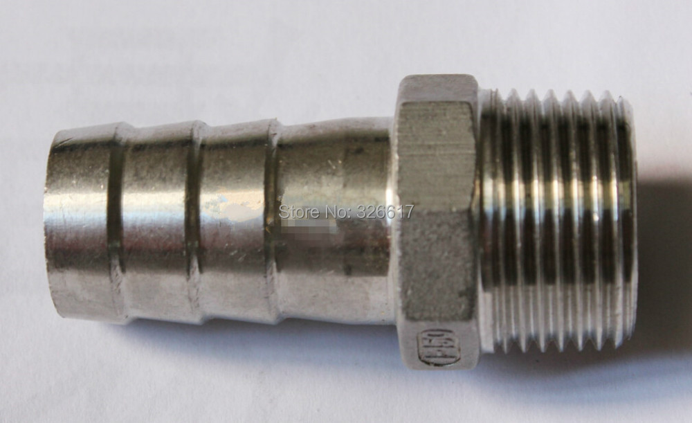 "Stainless Steel Hose Barb 1/2"" MPT Barbed Stainless Steel Beer Home Brewing Kettle Pipe Fitting(China (Mainland))"