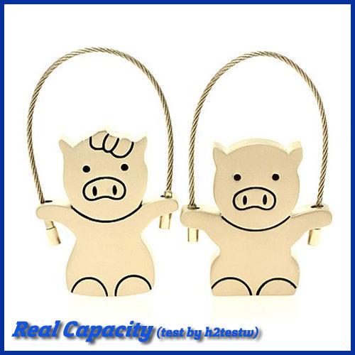 free shipping pendrive 16gb flash memory couple pig usb flash drive metal pen drive gift for valentines 4gb 8gb 16gb 32gb(China (Mainland))