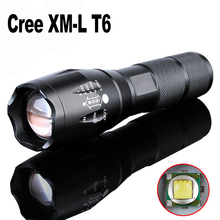 E17 Cree LED Flashlight 2000 Lumen Tactical Waterproof Zoomable Powerful XML T6 Lamp Camping Torch By 18650 Rechargeable Battery(China (Mainland))