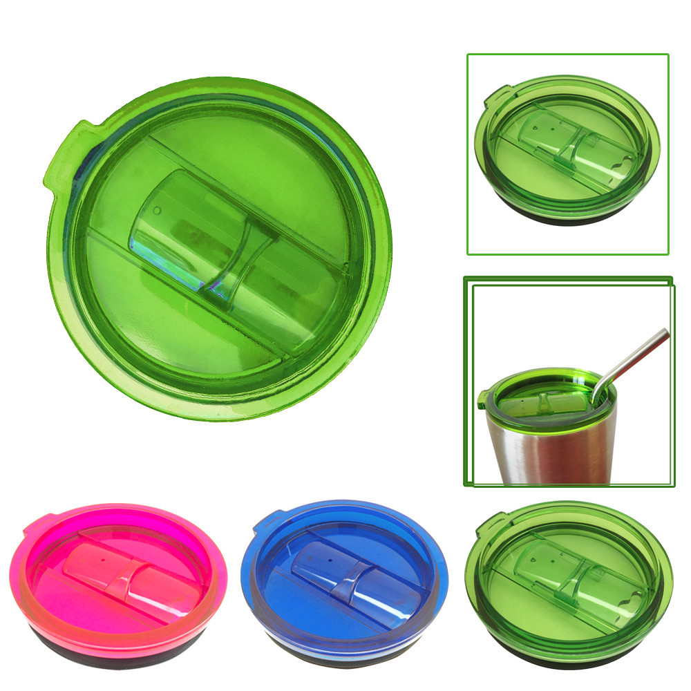 Hot 3 Colors Spill And Splash Resistant Lid With Slider Closure Rubber Band For 30 Oz Glass Steel Cups Cover(China (Mainland))