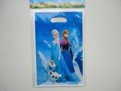 Happy birthday party girl children kids princess Elsa Anna souvenirs loot bags treat lolly plastic gift bag event supplies E42(China (Mainland))