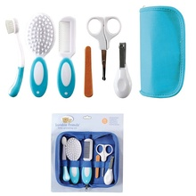 2015 Baby Grooming Care Manicure Set Infant Toothbrush Hair Brush+Comb+Emery Nail File Board+Nail scissors+Nail Clipper(China (Mainland))