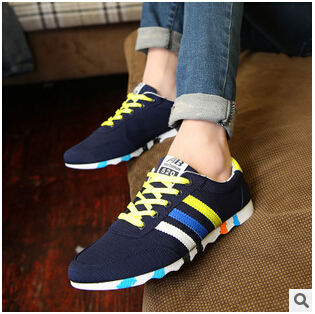 2015 High quality spring autumn canvas shoes men sneakers casual shoes men's fashion sport shoes light running shoes(China (Mainland))
