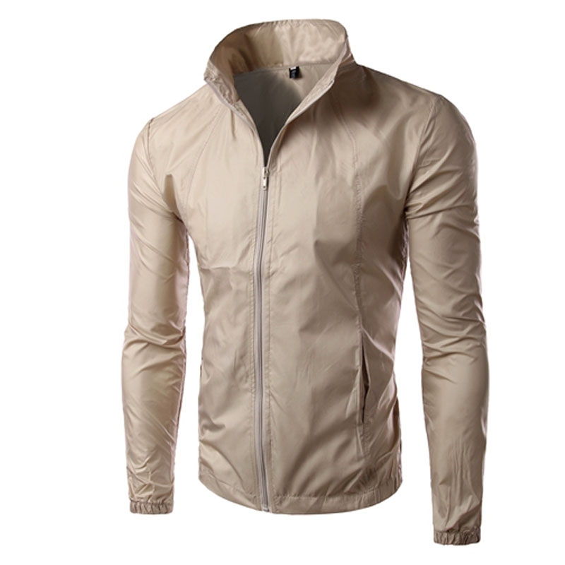 New Arrival Men Wind Stand Collar Jackets Long Sleeve Men sunscreen Jacket Slim fit Quick Dry Clothing jacket men(China (Mainland))