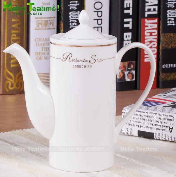 [HT!]560ml bone china porcelain coffee pot european style coffee maker coffee service set drinkware coffee pots free shipping(China (Mainland))