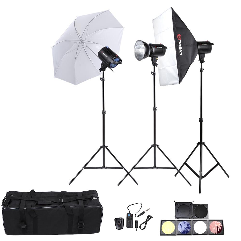 Tolifo Photo Studio Lighting Lamp Kit Set with 300W Studio Flash Strobe Speedlite Light Stand Softbox Soft Umbrella Cloth(China (Mainland))