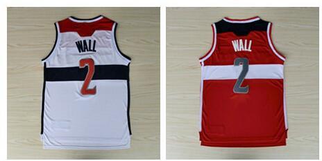 #2 John Wall Jersey Rev30 Basketball Jersey, Embroidery Logo, White ,Red ,Free Shipping !(China (Mainland))