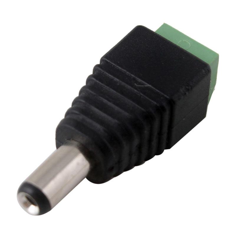 New 10 Pcs 2.1 x 5.5mm DC Power Male Plug Jack Adapter Connector Plug for CCTV LED Light # 49427(China (Mainland))
