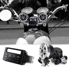 Motorcycle Music Player Series Sound Audio Radio System Handlebar 12V Full-band FM Stereo 2 Speakers ATV Bike With MP3 device(China (Mainland))