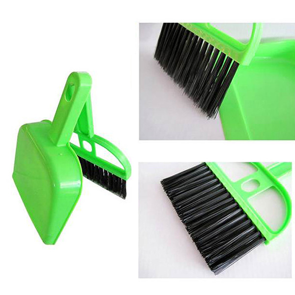 anng Desk Table Top Keyboard Netbook Whisk Dust Pan Mini Dustpan &Brush Handy Cleaner(China (Mainland))