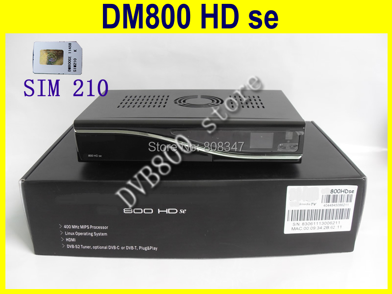 whole decoder satellite tv receiver 800se with BCM 4505 tuner sim 210 boot SSL84# D6 version free shipping dm800hd se wifi(China (Mainland))
